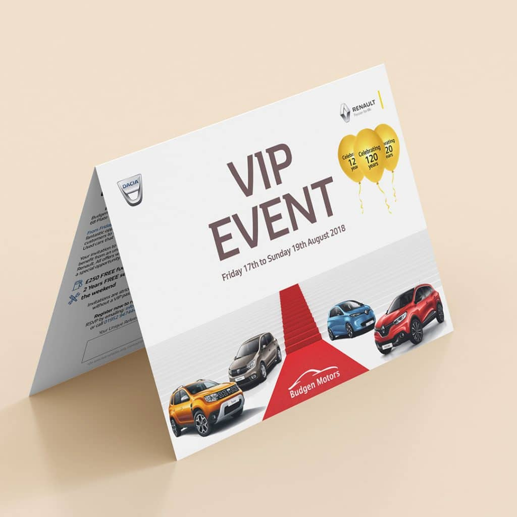 Renault & Dacia Vip Event Postcard