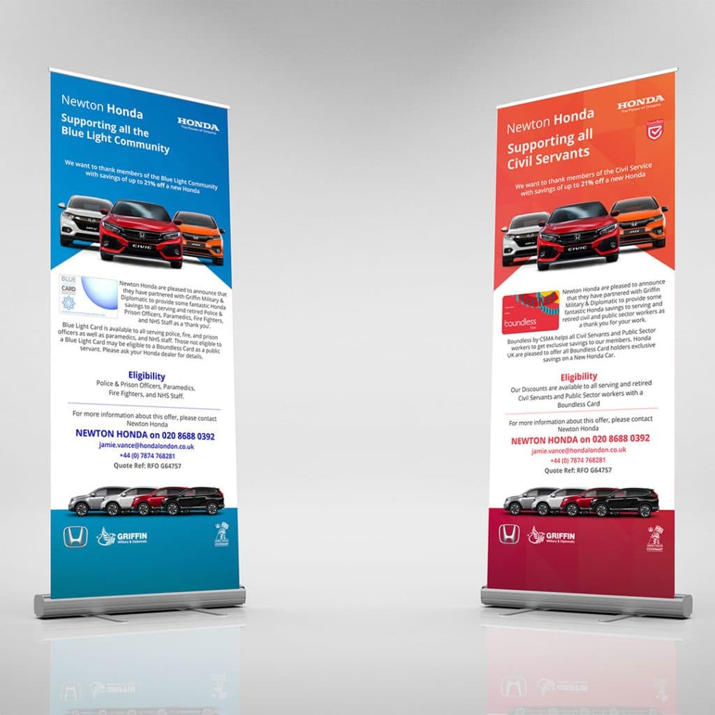 Pop Up Banner For Newton Honda