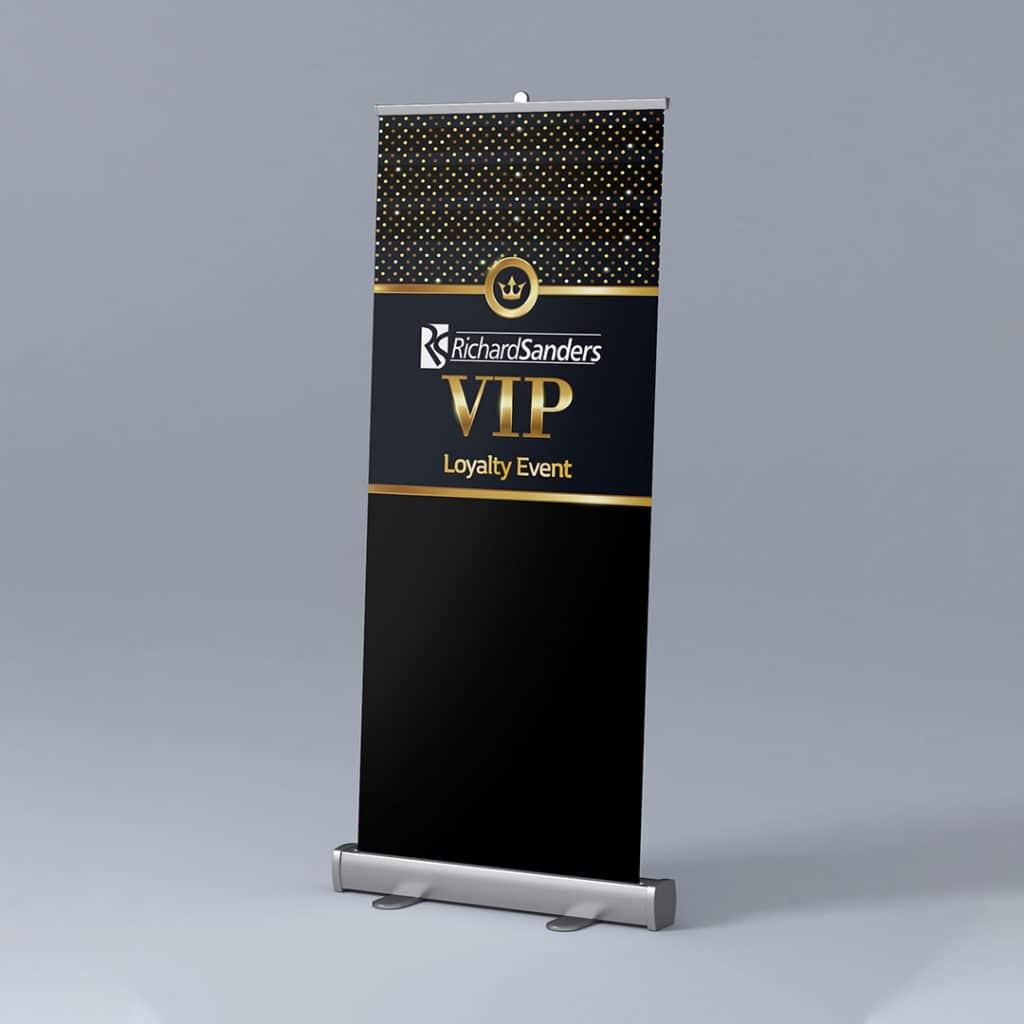 Richard Sanders VIP Loyalty Event Pop Up Banner
